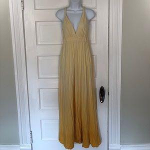 Yellow Ombré Maxi Dress
